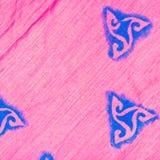 Abstract pattern on silk batik Royalty Free Stock Photos
