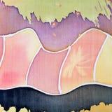 Abstract pattern on silk batik Royalty Free Stock Photography