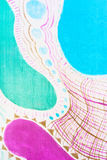Abstract pattern on silk batik Stock Images
