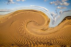 Abstract pattern of the  The Simpson desert Royalty Free Stock Images