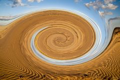 Abstract pattern of the  The Simpson desert Royalty Free Stock Photography