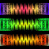 Abstract pattern of sound waves. Royalty Free Stock Photography