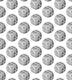 An abstract pattern of spherical objects. Manufacturability round objects abstract design Royalty Free Stock Image