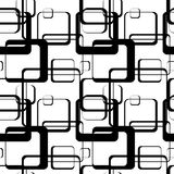 An abstract pattern of squares with rounded corners. Royalty Free Stock Photo