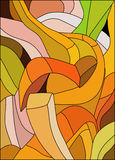 Abstract pattern of stained glass Royalty Free Stock Image
