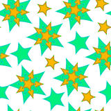 Abstract pattern from the stars, curve, seamless vector background. Stock Photography