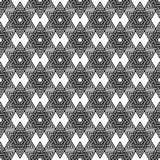Abstract  pattern from stars of David. Vector. Abstract  pattern from stars of David. Black and white line geometry background. Vector illustration Stock Photos