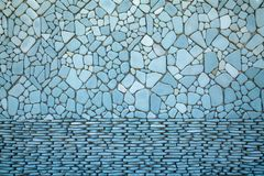 Stone wall abstract background,Close up colorful stone wall tiles decoration. stock photo