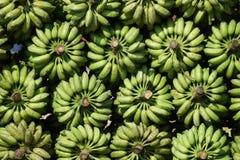 Abstract Pattern from stored bananas. Abstract Pattern of bananas   on a market in Gobindogonj Bangladesh Stock Image