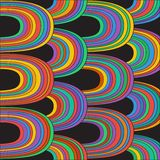 Abstract pattern with stripes. Vector illustration Royalty Free Stock Photos