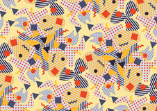Abstract pattern in the style of the eighties. Royalty Free Stock Image