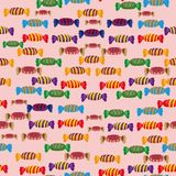 Abstract pattern with sweets Royalty Free Stock Photos