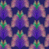 Abstract pattern of swirling dots. Abstract pattern resembling peacock feathers Royalty Free Stock Image