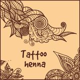 Abstract pattern of a tattoo henna. Illustration of abstract pattern of a tattoo henna Stock Images