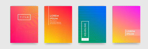 Abstract pattern texture book brochure poster cover gradient template vector set Stock Image