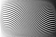 Abstract pattern. Texture with wavy, billowy lines. Optical art background. Wave design black and white. vector illustration
