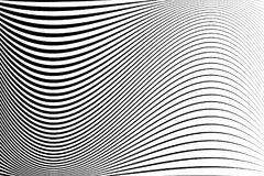 Abstract pattern. Texture with wavy, billowy lines. Optical art background. Wave design black and white. Digital image with a psychedelic stripes. Vector stock illustration