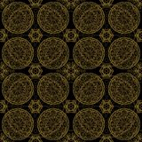 Abstract pattern tile in black color Stock Photography