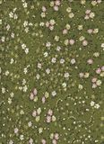 Green Abstract pattern with tiny flowers. royalty free stock photography