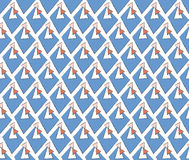 Abstract pattern twins directional arrows Stock Photo