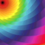 Abstract pattern with twisted bands in spectrum colors Stock Images