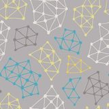 Abstract pattern. Vector seamless background from triangles and dots. Template for design, print and decoration. Gray backdrop Stock Images