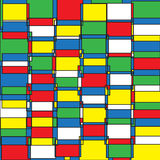 Abstract pattern. Vector seamless abstract pattern in pop art style Royalty Free Stock Images