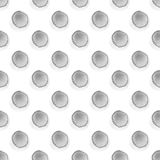 Abstract pattern with of watercolor circles in shades gray and white. Hand drawn polka dot. Texture for textile. Abstract pattern with of watercolor circles in Royalty Free Stock Photos