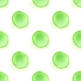 Abstract pattern with of watercolor circles in shades green and white. Hand drawn polka dot. Texture for textile. Abstract pattern with of watercolor circles in Royalty Free Stock Photos