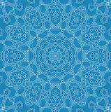 Abstract pattern. Abstract white pattern on blue background Stock Photo
