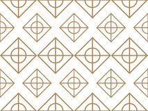 Abstract pattern. white gold color texture with rectangle, and c. Ircle. Seamless tiling background vector illustration