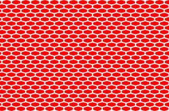 Abstract pattern white net on red background,design mash and decoration for backdrop. Beautiful wallpaper with simple shape stock illustration
