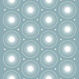 Abstract pattern. White snowflakes. Seamless vector pattern. Stock Photography