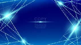 Free Abstract Pattern Wireframe Polygon Bokeh Light Frame Structure And Lens Flare, Blockchain Cryptocurrency Concept Design Illustrati Royalty Free Stock Images - 128229049