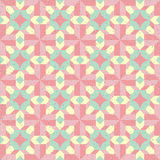 Abstract pattern of yellow, pink and light green color Stock Image