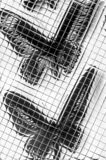 Abstract patterned tiles in black and white royalty free illustration
