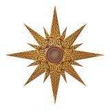 Gold Abstract Star Illustration royalty free illustration