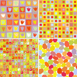 Abstract  patterns. Abstract  colorful retro  pattern set Stock Photos