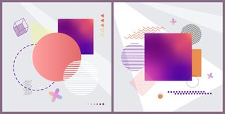 Abstract Patterns Collection Vector Illustration Royalty Free Stock Photography