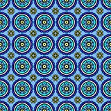 Abstract patterns blue flowers. Abstract patterns color blue flowers vector illustration