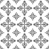 Abstract patterns Cross doodles Stock Photography