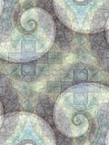 Abstract Patterns Gray Spirals Royalty Free Stock Photos