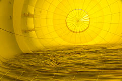 Abstract Patterns Inside a Hot Air Balloon stock photography