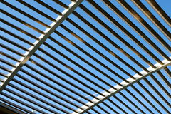Abstract Patterns. Line patterns forming by a roof in silhouette Stock Image