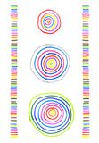 Abstract colorful patterns. Abstract patterns made by hand on a white paper with colored markers vector illustration