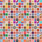 Abstract patterns seamless wallpaper Stock Photo
