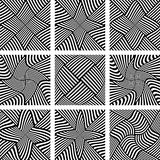 Abstract patterns set. Design elements. Stock Photo