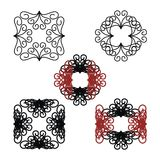 Abstract patterns. Set of five decorative abstract patterns vector illustration