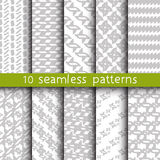 10 abstract patterns for universal background. Endless texture can be used for wallpaper, pattern fill, web page background. Vector illustration for web design Royalty Free Stock Photography