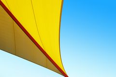 Abstract of Pavilion Roof. An abstract underside view of a yellow tent roof royalty free stock image